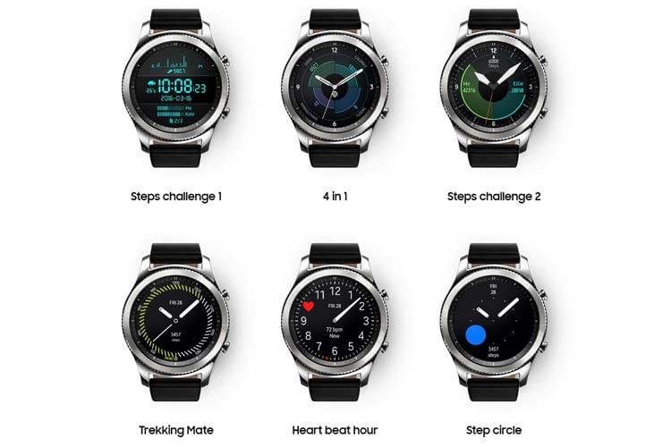 Die verschiedenen Modi der Gear S3 classic lassen sich durch Drehen an der Lünette auswählen