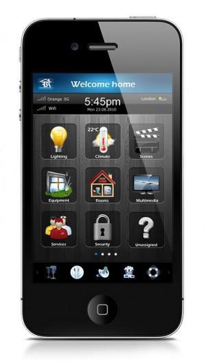 Smartphone Interfaces vom Fibaro Smart Home Systems (iOS)