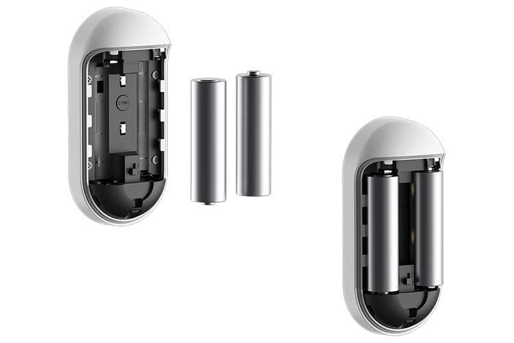 Strom bezieht Arlo Audio Doorbell aus zwei AA-Batterien, weshalb sie kabellos installiert werden kann