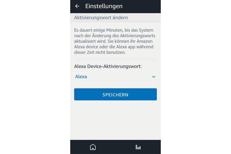 Mit nur wenigen Klicks lässt sich in der Alexa App das Aktivierungswort anpassen