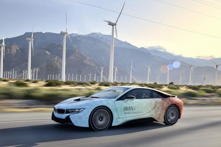Der Ökosportwagen BMW i8 - Strom vom Wind in den Tank