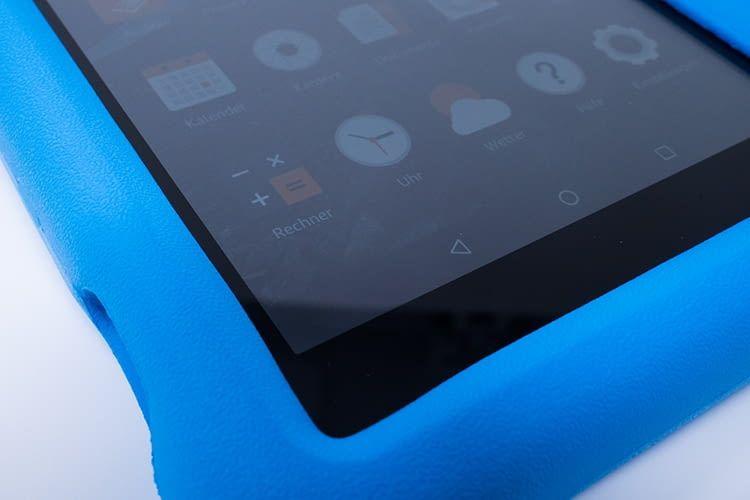 Die farbenfrohe Hülle soll die Fire HD 8 Kids Edition vor Stößen und Stürzen schützen