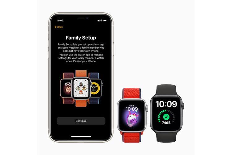 Dank Familienkonfiguration können mehrere Apple Watch SE Smartwatches mit einem iPhone betrieben werden