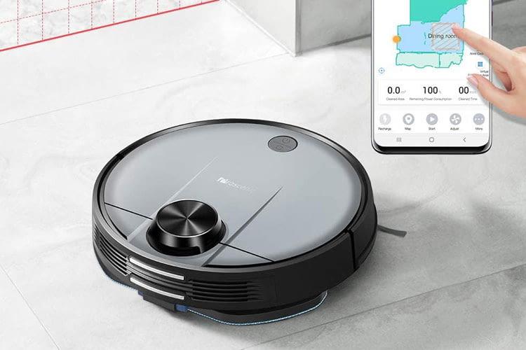 Proscenic M6 PRO scannt verschiedene Räume und Etagen und Nutzer können zudem No-Go-Bereiche einrichten