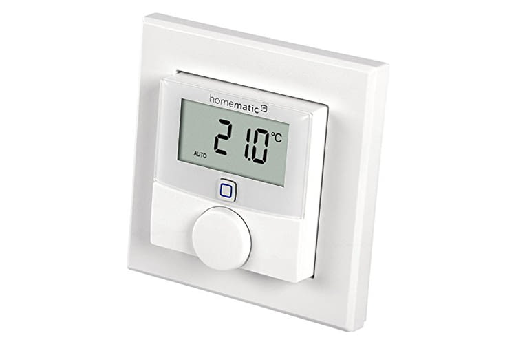 Das Homematic IP Wandthermostat mit Luftfeuchtigkeitssensor ist mit oder ohne Stellrad erhältlich