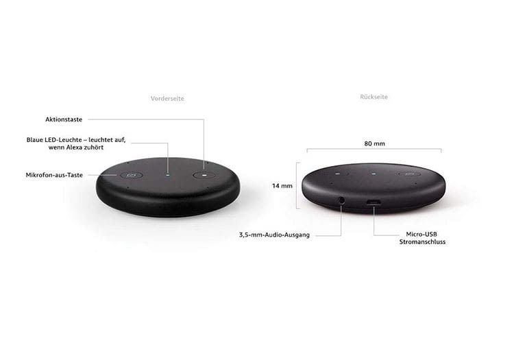 Technische Details zu Amazons Echo Input Alexa Mikrofon