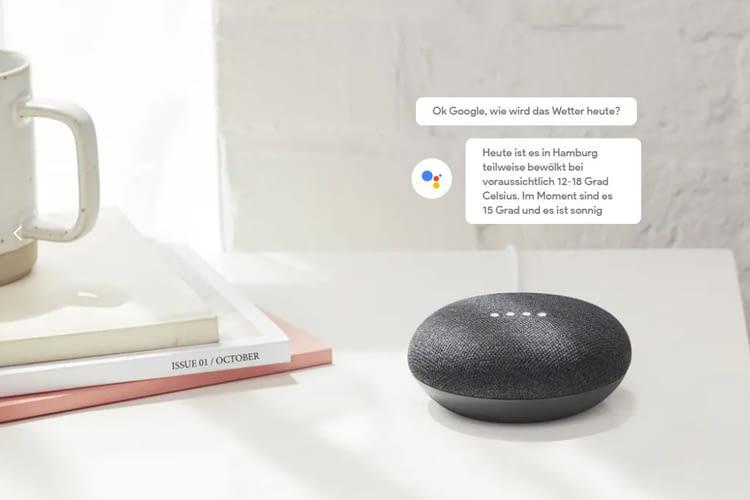 Ähnlich wie Amazons Alexa, beantwortet auch Google Assistant Fragen