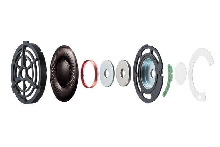 Sony WH-1000XM2 verfügt über 40-mm-Treiber mit einer Membran aus Flüssigkristallpolymer (LCP)