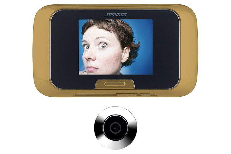 Der Bildschirm des digitalen Türspions Somikon PX3697-944 ist mit 2,8 Zoll klein ausgefallen