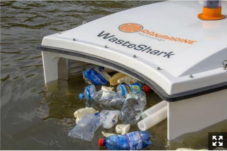 Während seiner Einsatzzeit von bis zu 16 Stunden stößt der Waste Shark absolut keine Emissionen aus