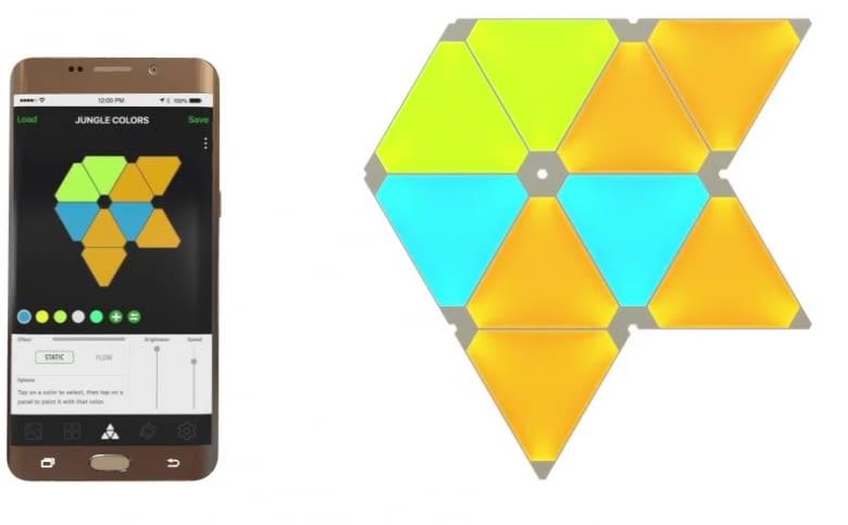 Aurora Lichtpaneele lassen sich per App steuern
