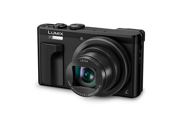 Panasonic Lumix DMC-TZ81EG-K ist mit nur 282 g die leichteste Kamera in unserem Vergleich