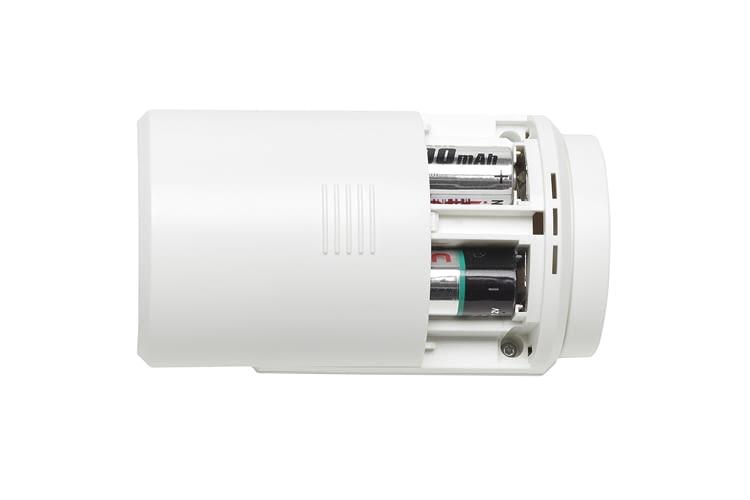 Nach etwa 3 Jahren müssen bei Eqiva Thermostat L die Batterien gewechselt werden
