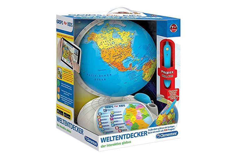 Der interaktive Globus eignet sich auch für Teens oder Erwachsene