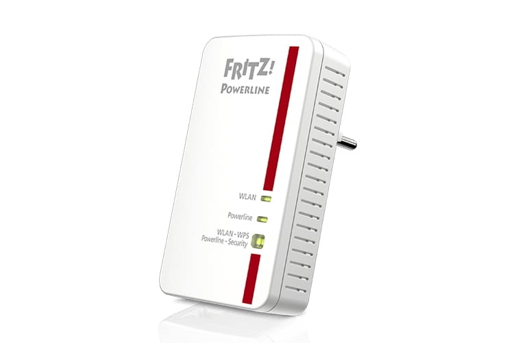 Der FRITZ!Powerline 1240E Adapter erhöht die WLAN-Reichweite durch seine Repeater-Funktion