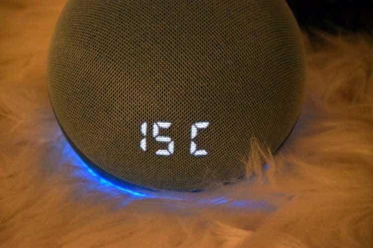 Zur Temperaturanzeige greift Alexa auf Onlinewetterdaten zurück