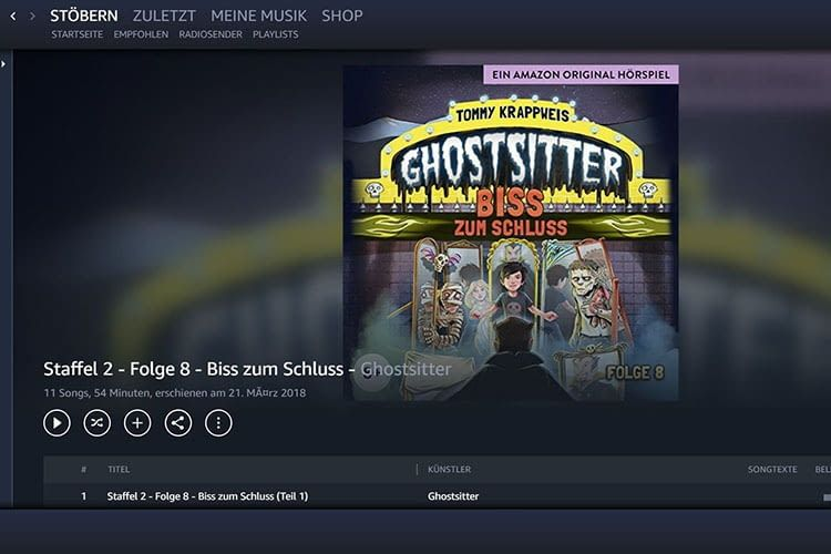 In Amazon Music Prime und Amazon Music Unlimited enthalten: Hörspiele