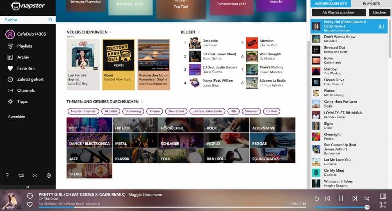 Im Gegensatz zum Großteil der Streamingdienste ist Napster auch auf dem Windows Phone verfügbar