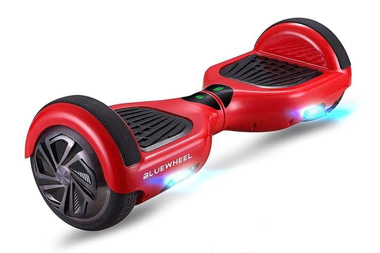 Das Bleuwheel HX310s in rot bietet eine individuelle Geschwindigkeitsbegrenzung für Kinder