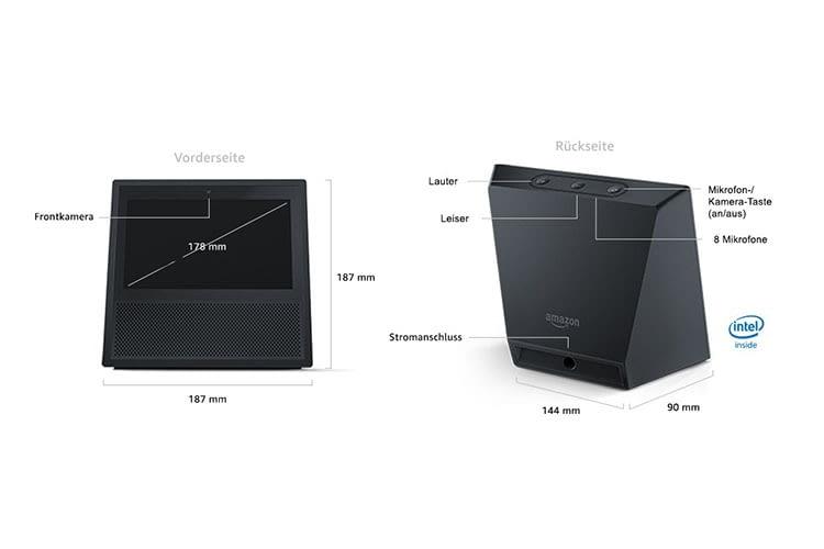Technische Details zum Amazon Echo Show 2. Generation mit 10 Zoll-Display
