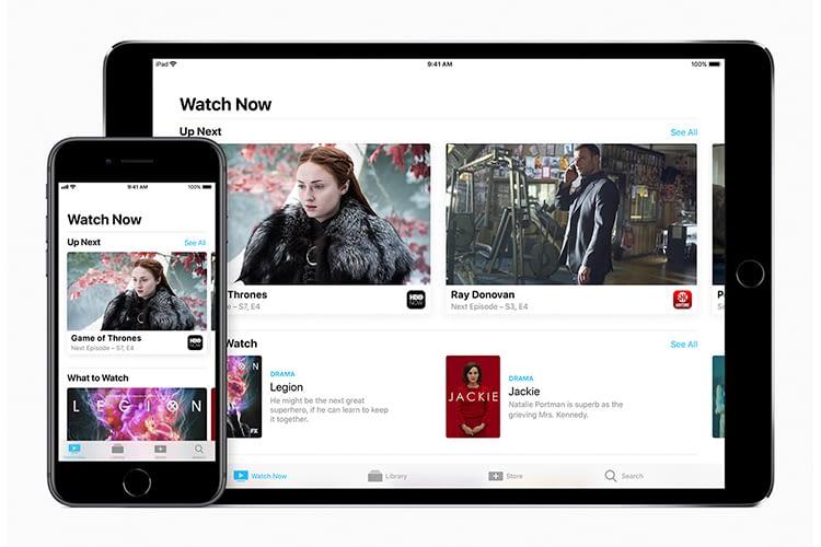 Mit der TV App kann auf iPhone und iPad nach Inhalten gesucht werden, die dann auf dem Apple TV 4K angezeigt werden