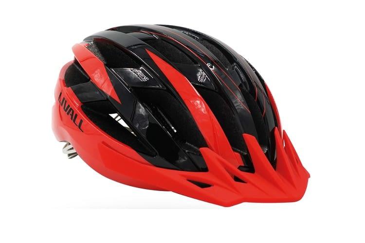 Die rot-schwarze Variante des MT1 Helms ist besonders kontrastreich designt