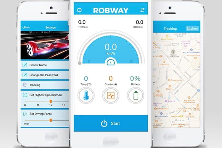 Robway W2 kann sogar per App überwacht werden