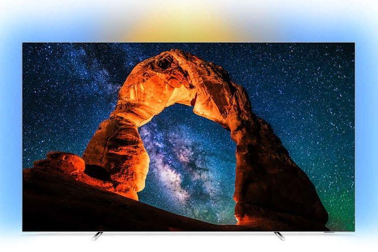 Ausgezeichnetes Bild und Ambilight-Effekt: 55 Zoll-TV Philips 55OLED803