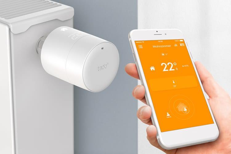 Die Heizungssteuerung mit tado° läuft per Raumthermostat oder wie hier über den Heizungsthermostat