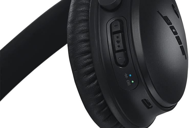 Bose setzt bei seinem Bluetooth-Kopfhörer Bose QuietComfort 35 II auf Tastenbedienung