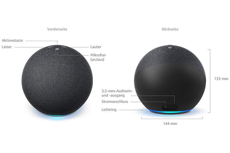 Amazon Echo 4 bietet Stereo-Sound sowie integriertes ZigBee und Bluetooth Low Energy Mesh