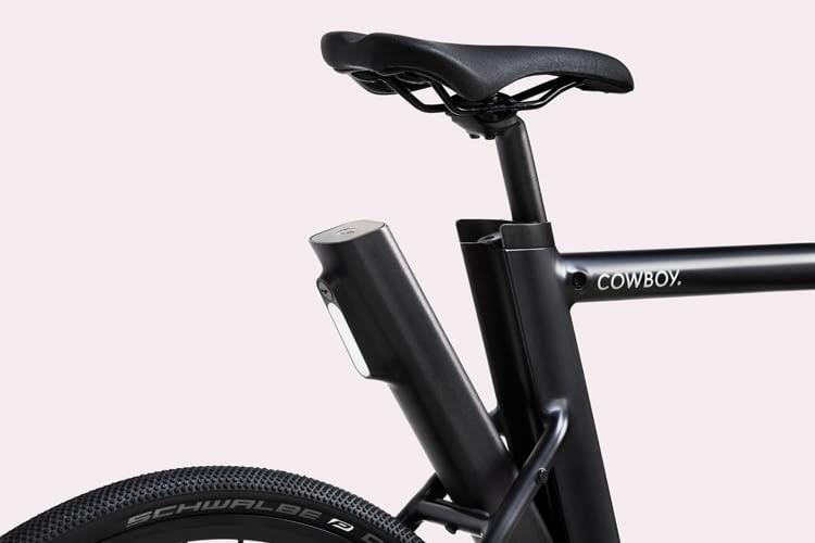 Cowboy City-E-Bike: Elektro-Antrieb per Akku im Rahmen