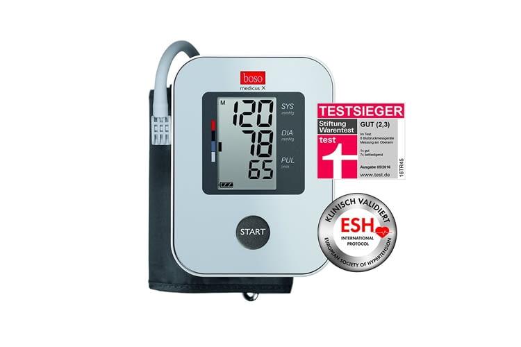Das boso medicus X Oberarm-Blutdruckmessgerät bietet Ein- Knopf-Bedienung