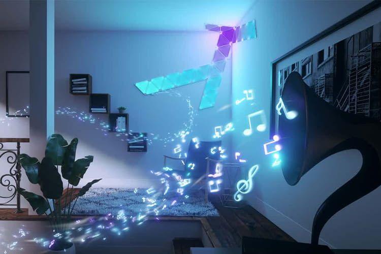 Manche Leuchten, wie z.B. Nanoleaf Aurora, leuchten auf Wunsch sogar passend zur Musik