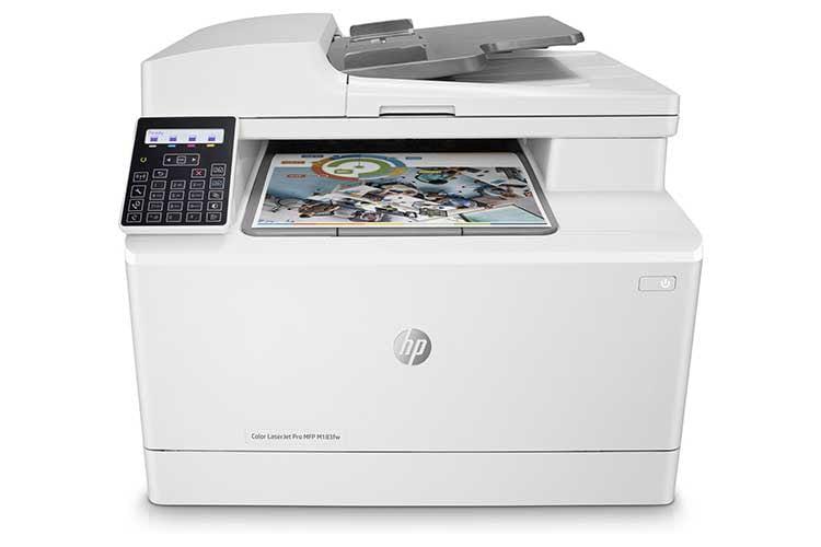Der Multifunktions-Farblaserdrucker HP Color LaserJet Pro M183fw kann nicht nur drucken, sondern auch scannen, kopieren und faxen