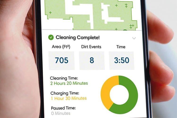 Mit der iRobot HOME-App lässt sich der Saugroboter fernsteuern