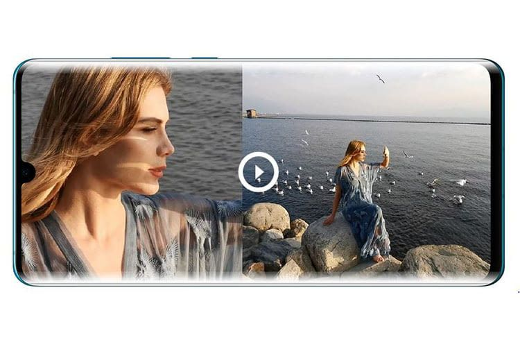 Der Dual Video View des HUAWEI P30 Pro erlaubt Split-Screen-Videos