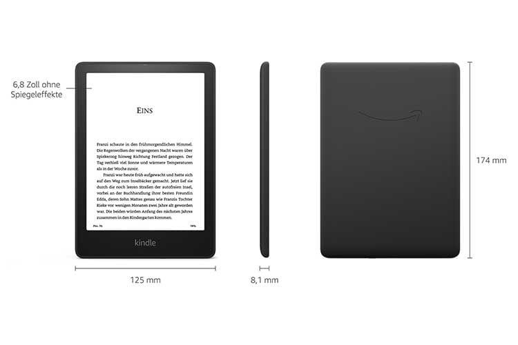 Die Kindle Paperwhite Signature Edition bietet einen Lichtsensor, der die Display-Helligkeit dem Umgebungslicht anpasst
