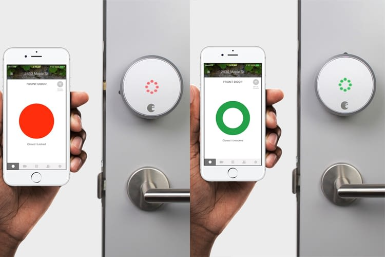 Das smarte Türschloss lässt sich per App ver- und entriegeln