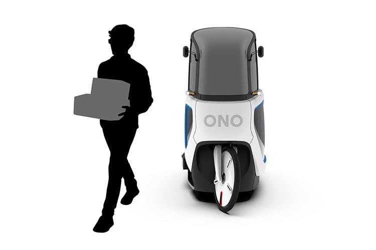 Paketzusteller dürfen das ONO E-Lastenfahrrad in Einfahrten und auf Bordsteinen parken