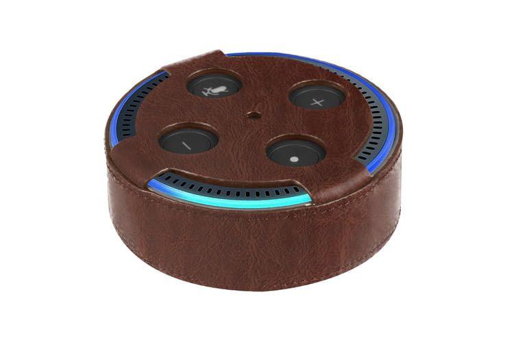 Diese Hülle aus Kunstleder für Echo Dot 2 macht auch optisch etwas her