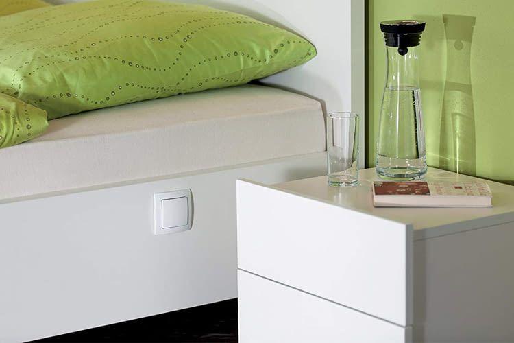 Der devolo Home Control Funkschalter arbeitet mit Batterien und ist am PC programmierbar