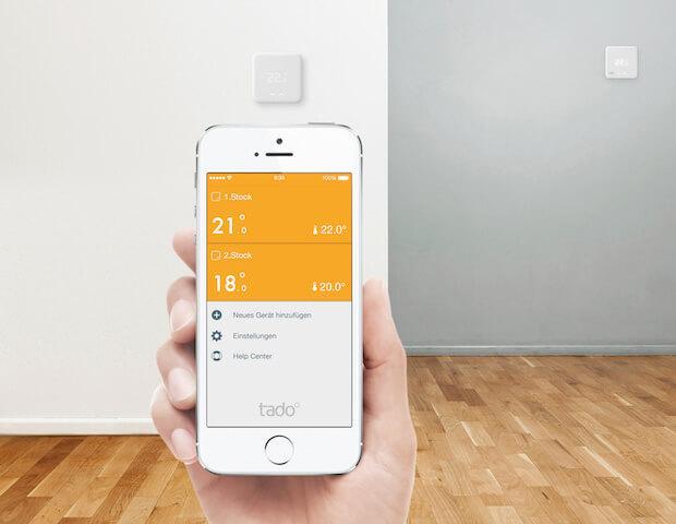 Mit der tado° App können via App und HomeKit die Raumtemperatur geregelt werden