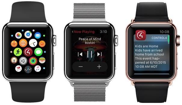 Die Control4 App ist auch über die AppleWatch nutzbar