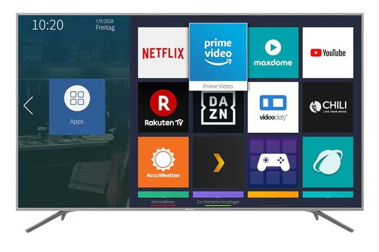 TV Hersteller Hisense nutzt für seine Smart TVs das eigene TV-OS VIDAA U Smart TV