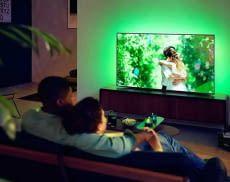 Vor den neuen EU Energielabel Richtlinien noch ein stromsparender Fernseher: Philips Ambilight TV 55OLED 705/12