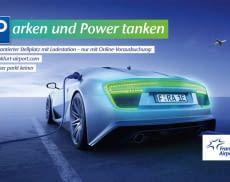 Am Frankfurter Flughafen parken und Elektrofahrzeuge kostenlos aufladen