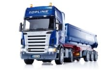 Heute im Adventskalender: Scania Zugmaschine mit Kippsattelauflieger von Schmitz-Cargobull