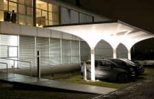 Die MDT-tex Solar Carports können mehr als nur tagsüber Schatten zu spenden