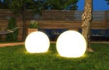 Die von ALDI verkaufte tint Gartenlampe hat einen Durchmesser von 35 Zentimetern